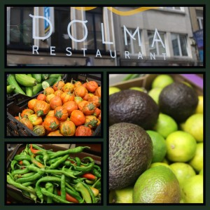 Preparations at venues across Brussels including Dolma restaurant