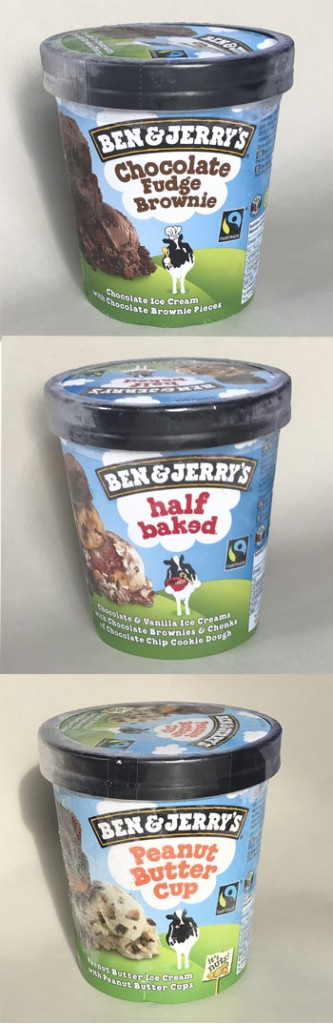 The UK Ben & Jerry's samples were bought from major supermarkets in London.
